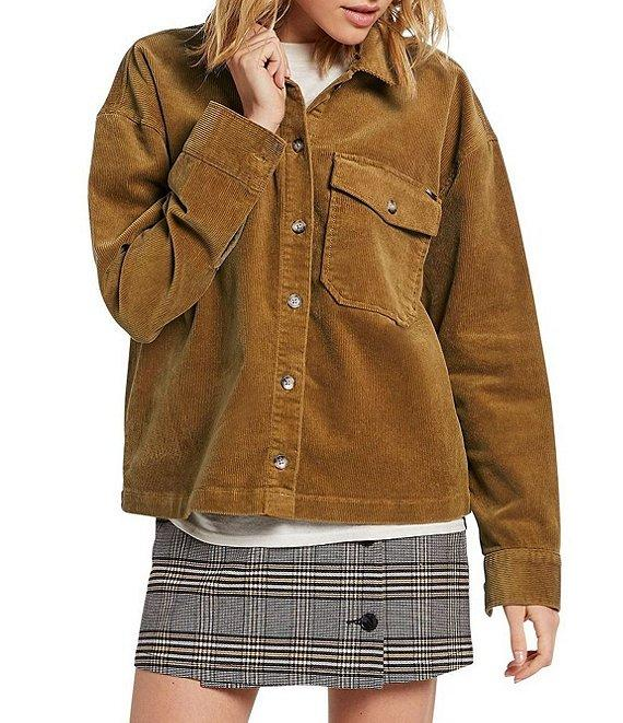 VolcomSha Lala Button Front Corduroy Shirt Jacket