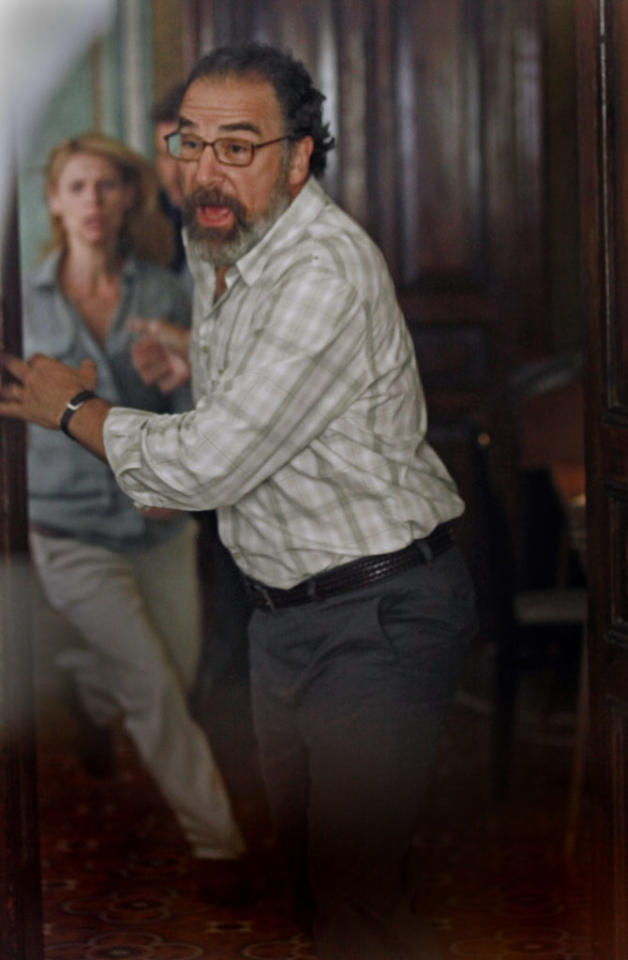 "Mandy Patinkin as Saul Berenson and Claire Danes as Carrie Mathison in the ""Homeland"" Season 2 episode, ""Beirut is Back."""