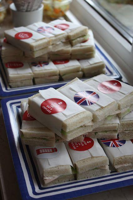 """<p>Keep your finger sandwiches in order by wrapping them in grease proof paper and sealing with a British sticker. <i><a href=""""https://uk.pinterest.com/pin/441071357227382831/"""" rel=""""nofollow noopener"""" target=""""_blank"""" data-ylk=""""slk:[Photo: Pinterest]"""" class=""""link rapid-noclick-resp"""">[Photo: Pinterest]</a></i></p>"""