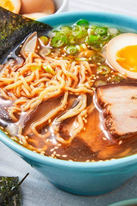 "<p>Making ramen from scratch is pretty darn elaborate. It can be a multi day affair, and if you simply don't have time for it, it can seem very intimidating. But fear not: your patience will be rewarded. </p><p>Get the <a href=""https://www.delish.com/uk/cooking/recipes/a30591240/homemade-ramen-recipe/"" rel=""nofollow noopener"" target=""_blank"" data-ylk=""slk:Easy Homemade Ramen"" class=""link rapid-noclick-resp"">Easy Homemade Ramen</a> recipe.</p>"