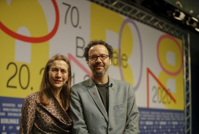 The new managing director of the Berlinale film festival Mariette Rissenbeek and the new artistic director of the Berlinale film festival Carlo Chatrian