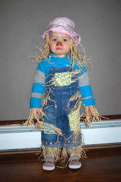 """<p>Sew hay to fabric bands to give overalls a stuffed appearance. Make sure it's still comfortable for your little one to wear though, or you'll have straw trailing all over your house!</p><p><strong>Get the tutorial at <a href=""""http://bethmotta.com/easy-scarecrow-halloween-costume-for-your-child/"""" rel=""""nofollow noopener"""" target=""""_blank"""" data-ylk=""""slk:Beth Motta"""" class=""""link rapid-noclick-resp"""">Beth Motta</a>. </strong> </p><p><strong><a class=""""link rapid-noclick-resp"""" href=""""https://www.amazon.com/FloraCraft-Decorative-Straw-Bale-Natural/dp/B00E9IVMV0/ref=pd_bxgy_2/138-4142957-1734902?_encoding=UTF8&pd_rd_i=B00E9IVMV0&pd_rd_r=9968c9bc-2e68-4653-a274-7186e8a97d81&pd_rd_w=Y6NRd&pd_rd_wg=1gJjn&pf_rd_p=4e3f7fc3-00c8-46a6-a4db-8457e6319578&pf_rd_r=XH01GRCJ2B5B8SNJ8RE7&psc=1&refRID=XH01GRCJ2B5B8SNJ8RE7&tag=syn-yahoo-20&ascsubtag=%5Bartid%7C10050.g.28190286%5Bsrc%7Cyahoo-us"""" rel=""""nofollow noopener"""" target=""""_blank"""" data-ylk=""""slk:SHOP MINI STRAW BALE"""">SHOP MINI STRAW BALE</a></strong></p>"""