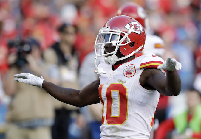 Tyreek Hill is sure to spread his wings and fly this season. (AP)