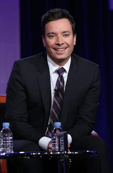 """This photo released by NBC shows Jimmy Fallon who will be the new host of """"Tonight Show Starring Jimmy Fallon"""". (AP Photo/NBC, Chris Haston)"""