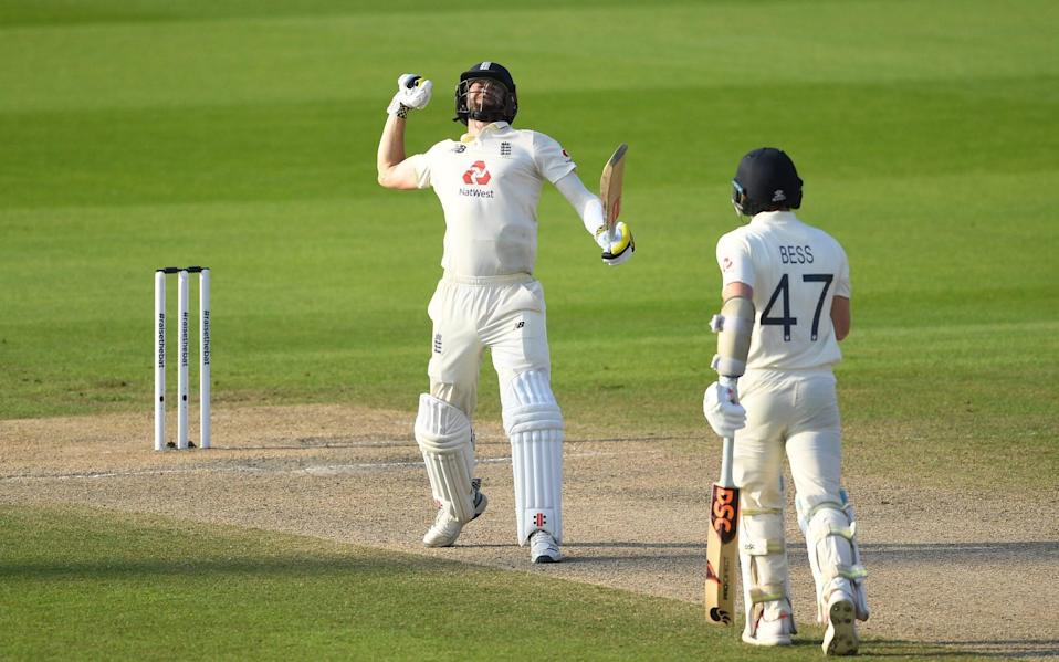 Chris Woakes finished unbeaten on 84 to seal the win for England - GETTY IMAGES