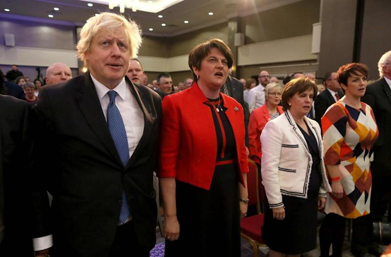 Foreign Secretary Boris Johnson and leader of the DUP Arlene Foster (AFP/Getty Images)
