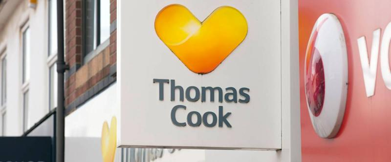Thomas Cook Travel Agents Sign - Scunthorpe, Lincolnshire, United Kingdom - 23rd January 2018
