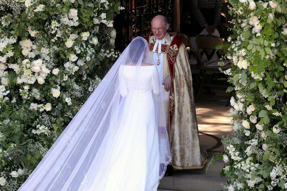<p>Imagine the nerves Meghan probably felt as she was about to walk into the chapel by herself?</p>