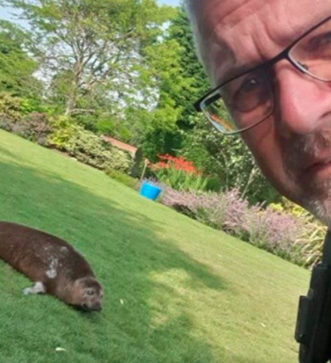 Pc Martin Green was called by a friend to alert him to Dandy's sunbathing antics. (Sleaford Police)