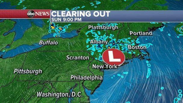 PHOTO: Clearing Out weather map (ABC News)