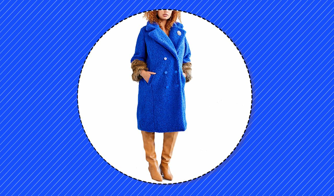 <p>The best plus-size statement coats to shop and wear this winter season. (Photo: Eloquii, Art: Yahoo Lifestyle photo-illustration) </p>