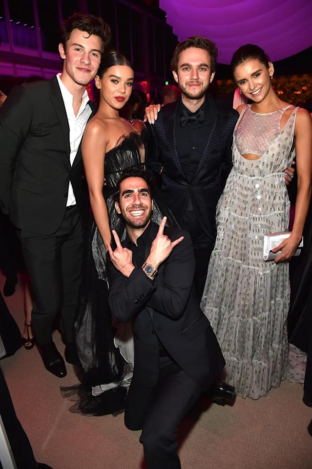 <p>The kids are all right: Former Oscar nominee Steinfeld bonded with friends like DJ Zedd and <em>Vampire Diaries</em> star Dobrev at the <em>Vanity Fair </em>party. (Photo: Kevin Mazur/VF18/WireImage) </p>