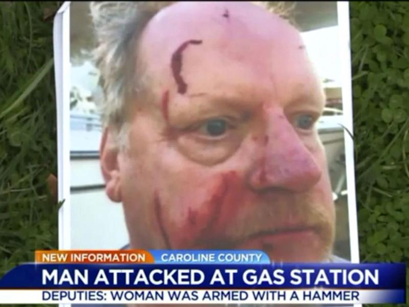 The man, identified as Bob, was attacked with a hammer while driving home to Massachusetts with his boat: WTVR