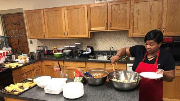 PHOTO: Michelle Lindsey cooks in her classroom at Lakewood High School in Salemburg, North Carolina. (Michelle Lindsey )