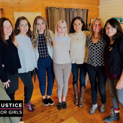 Meghan also met staff running a women's shelter in Vancouver on January 14, in her first public appearance since the couple decided to step back as senior Royals - Credit: Justice for Girls/AFP