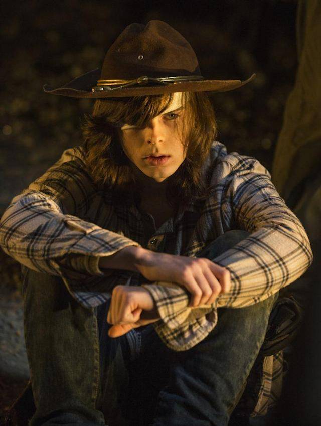 Chandler Riggs as Carl Grimes in 'The Walking Dead' (Credit: Gene Page/AMC)