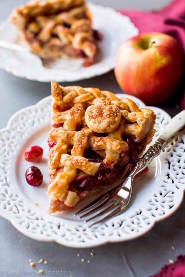 "<strong>Get the recipe for <a href=""https://sallysbakingaddiction.com/2016/11/03/apple-cranberry-pie/"" target=""_blank"">Apple Cranberry Pie</a> from Sally's Baking Addiction</strong>"