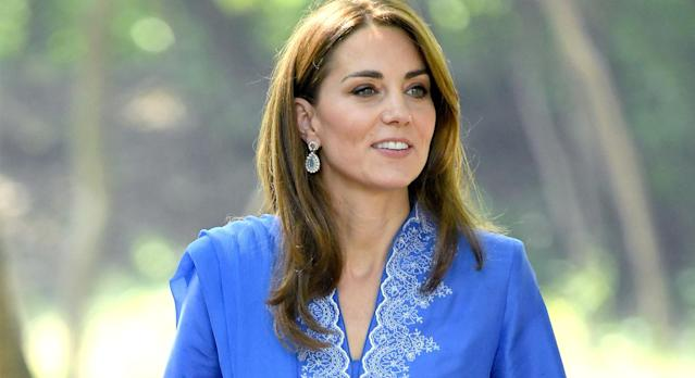 The Duchess of Cambridge's nude New Look heels are back in stock - and on sale. (Getty Images)