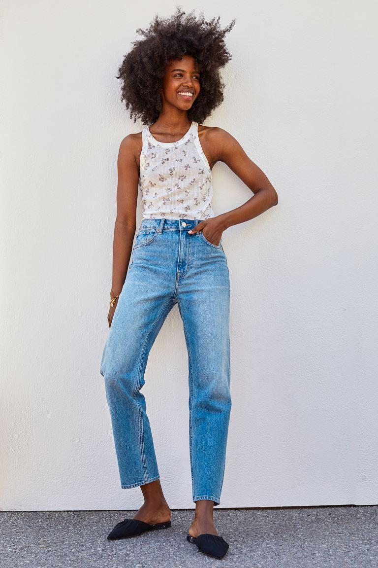 Straight High Ankle Jeans. Image via H&M.