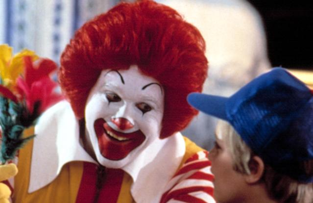 Squire Fridell as Ronald McDonald in the infamous 1988 kids movie <em>Mac and Me.</em> (Photo: Courtesy Everett Collection)