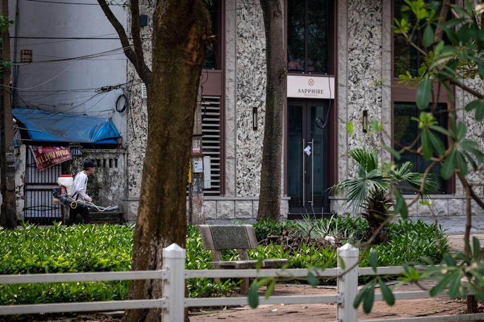 <p>An apartment building in Hanoi, Vietnam (file picture)</p> (Getty Images)