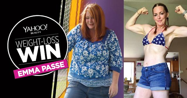 Emma Passe lost 135 pounds.
