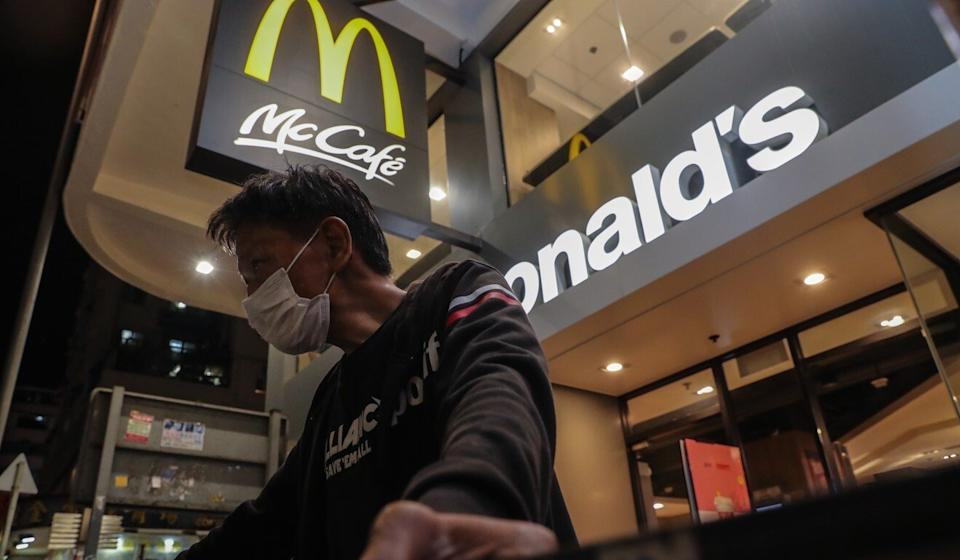 McDonald's Hong Kong will resume its evening dine-in operations on Wednesday. Photo: Edmond So