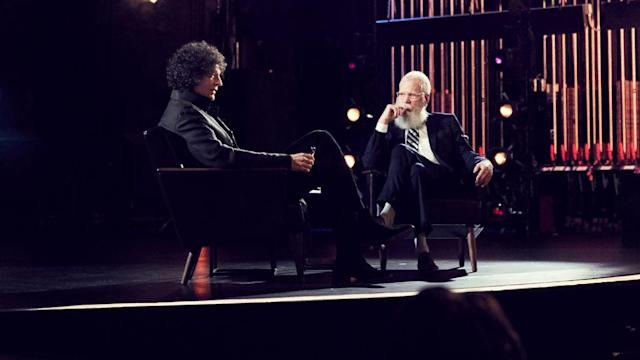Howard Stern and David Letterman on <em>My Next Guest Needs No Introduction</em> (Photo: Netflix)