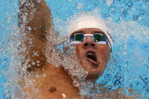 US swimmer Ryan Lochte competes in the men's 400m individual medley