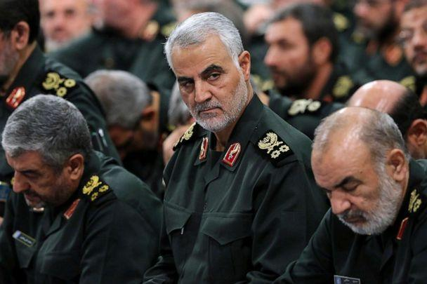 PHOTO: Revolutionary Guard Gen. Qassem Soleimani, center, attends a meeting in Tehran, Iran, Sept. 18, 2016 in a photo provided by the office of the Iranian supreme leader. (Office of the Iranian Supreme Leader via AP, FILE)