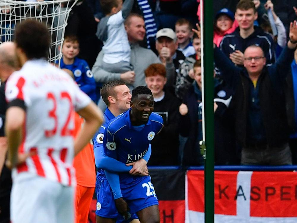 Ndidi opened the scoring with a firecracker of a shot from outside the Stoke box (Getty)