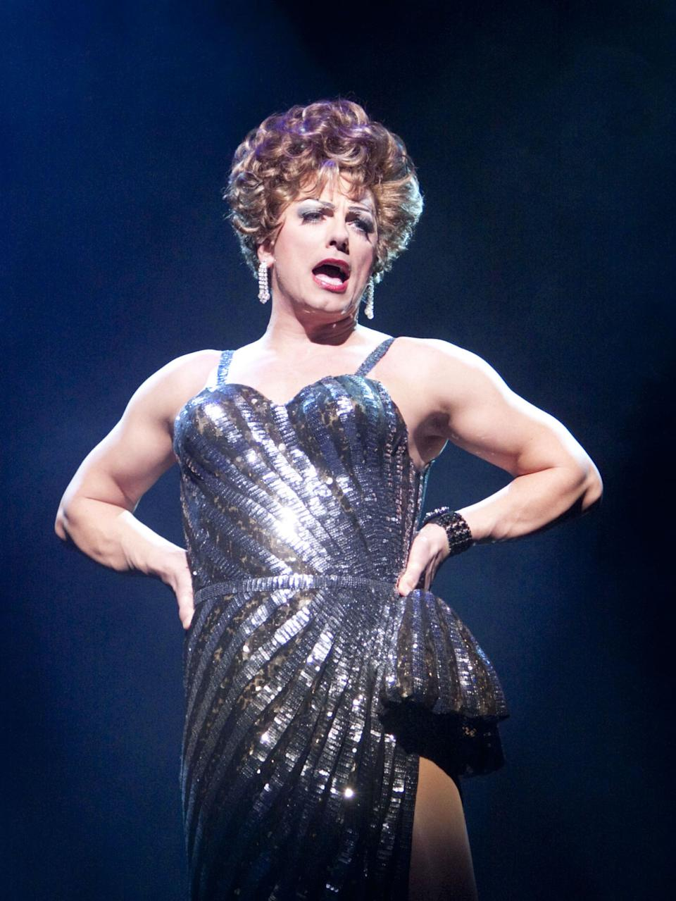 <p>Barrowman as Zaza in the musical La Cage aux Folles at The Playhouse Theatre, London in 2009</p>Rex Features