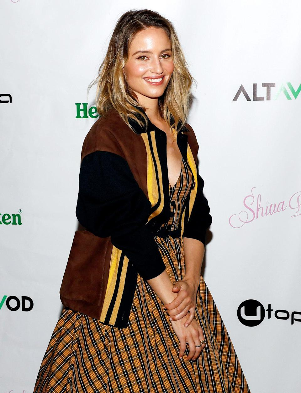 <p>Dianna Agron attends the <em>Shiva Baby</em> premiere, sponsored by Heineken and Utopia Films, at The William Vale Hotel in Brooklyn on Tuesday night. </p>