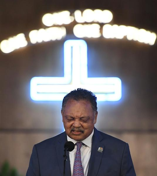 The Rev. Jesse Jackson -- a family friend of Aretha Franklin -- speaks in celebration of her life at New Bethel Baptist Church, where her father was the pastor
