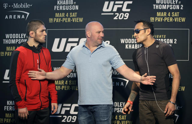 """<p>Rarely has a fight between two fighters as talented as Nurmagomedov and Ferguson been teased to MMA fans so often without being delivered. The two superlative lightweights were first linked at """"The Ultimate Fighter 22"""" finale, but the previously mentioned rib injury shelved Khabib. Then Ferguson had to pull out of the rescheduled date due to a lung issue. As the duo continued climbing the ranks, however, it was clear the fight would have to be signed again somewhere down the road. </p>"""