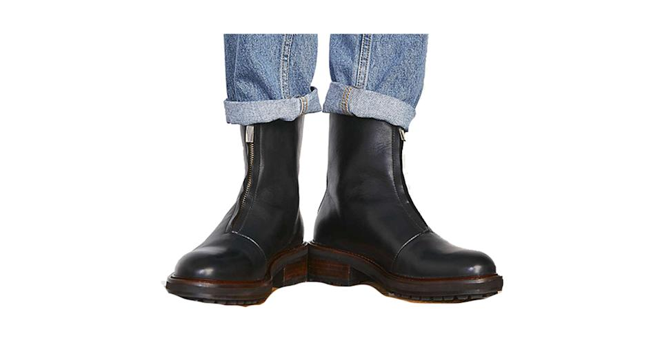 Jigsaw Sawyer Zip Front Leather Boots