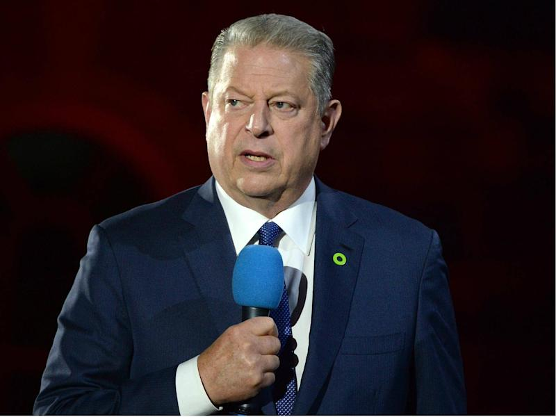 Former US Vice President Al Gore speaks on stage as he introduces the UK Premiere of 'An Inconvenient Sequel: Truth To Power' at Film4 Summer Screen in London on 10 August 2017: Anthony Harvey/Getty Images for Paramount Pictures