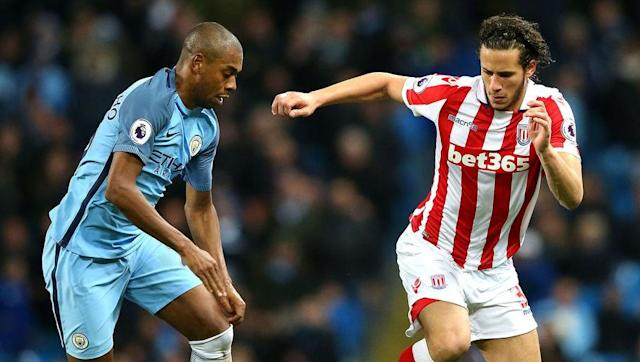 <p>City's Brazilian star Fernandinho is another player who has been switched around a bit as Pep Guardiola endeavours to find his best current team.</p> <br><p>Fernandinho has been deployed as an emergency right-back on occasion, which is a testament to how much Pep trusts him to do a job.</p> <br><p>The former Shakhtar Donetsk star was imperious over the first ten league games and was even fairly consistent throughout City's trickier periods this season.</p> <br><p>His influence in the team is obvious and he was badly missed in the games which he was suspended for. He makes it in over Granit Xhaka, Francis Coquelin and Mohamed Elneny.</p>