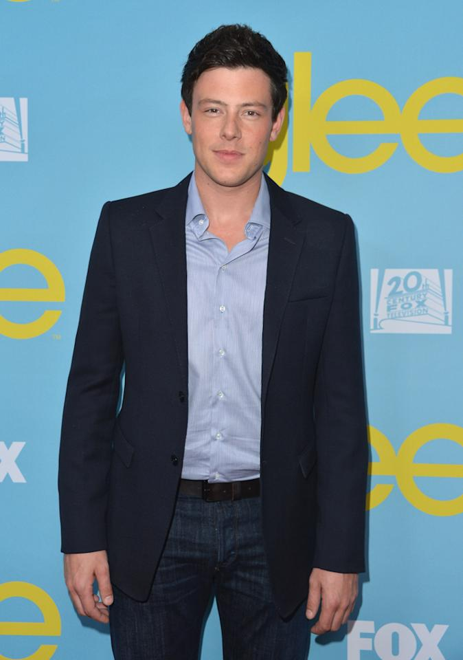 "Cory Monteith attends a special screening of ""<a target=""_blank"" href=""http://tv.yahoo.com/glee/show/44113"">Glee</a>""  hosted by The Academy of Television Arts & Sciences at Leonard H.  Goldenson Theatre on May 1, 2012 in North Hollywood, California."