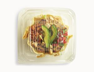 Tostada Salad stays hotter for pickup, drive-thru and delivery.