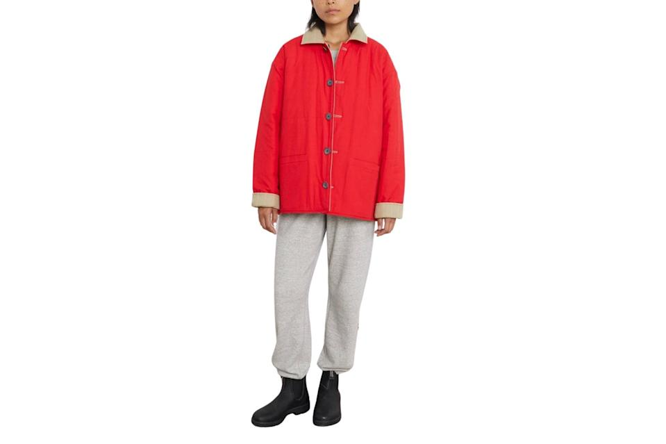 "$275, Entireworld. <a href=""https://theentireworld.com/women/product/outerwear-mens-type-a-version-3-red-khaki-w"" rel=""nofollow noopener"" target=""_blank"" data-ylk=""slk:Get it now!"" class=""link rapid-noclick-resp"">Get it now!</a>"