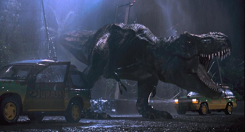 t rex jurassic park 10 Years, 10 Questions With David Koepp: On Jurassic Park, Indiana Jones, Spider Man, and Stephen King