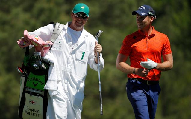 Danny Willett with his caddie Jonathan Smart (left) - REUTERS