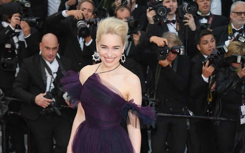 Emilia Clarke at the Cannes screening of Solo: A Star Wars Story - WireImage