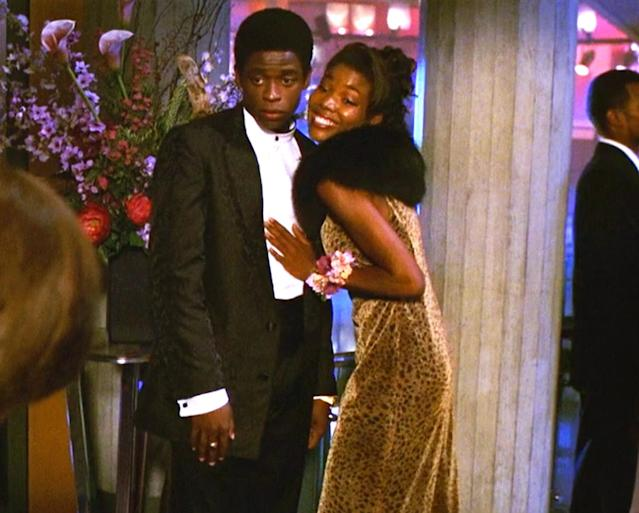 <p>Let us never forget that Gabrielle Union starred in many proms. Here she is looking chic and cool as ever, in her velvet cheetah print dress with her black fur shawl. We love you, Gabrielle Union! (Photo: Miramax Films) </p>