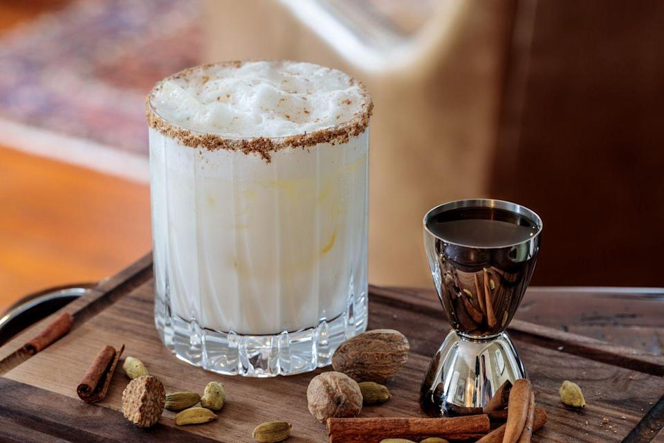 """<p>Warning: This New Orleans brunch staple packs, well, a real punch. Though it can be made with brandy, this take on the creamy, dreamy drink (think no-egg eggnog poured over a mound of crushed ice) includes Kentucky bourbon, as well as whole milk, vanilla extract, honey, and freshly-grated nutmeg.</p><p><a class=""""link rapid-noclick-resp"""" href=""""https://www.southernfatty.com/southern-bourbon-milk-punch/"""" rel=""""nofollow noopener"""" target=""""_blank"""" data-ylk=""""slk:GET THE RECIPE"""">GET THE RECIPE </a></p>"""