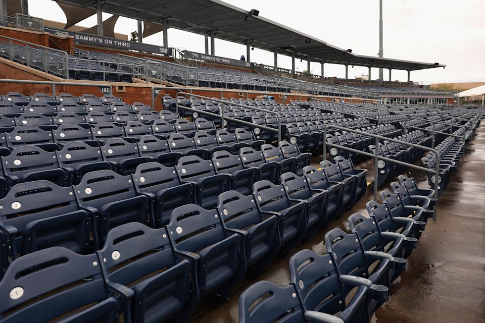 The impact of empty MLB stadiums could be bigger than money. (Photo by Christian Petersen/Getty Images)