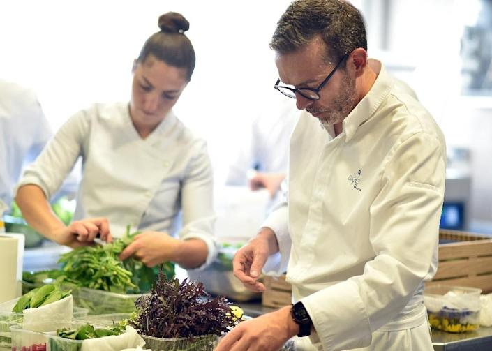 Sebastien Bras's restaurant Le Suquet, in south central France, will not feature in the Michelin guide's 2018 edition (AFP Photo/REMY GABALDA)
