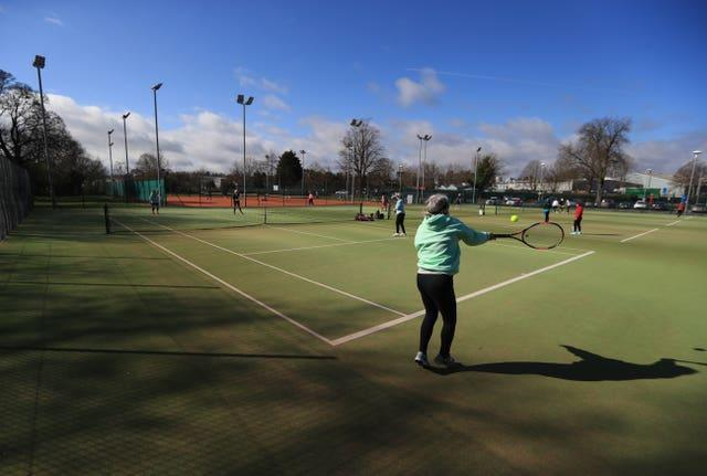 A game of doubles at Grantham Tennis Club