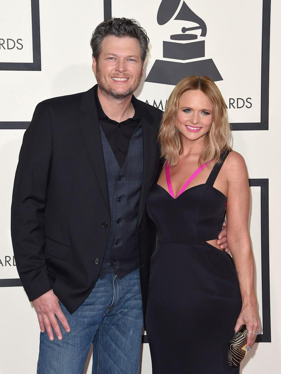 """<p>If you're a country music fan, you already know that Lambert and Shelton were the """"it"""" couple. The pair were married for four years before they announced their divorce in 2015, <a href=""""https://www.eonline.com/news/930221/why-miranda-lambert-and-blake-shelton-s-great-love-affair-unraveled"""" rel=""""nofollow noopener"""" target=""""_blank"""" data-ylk=""""slk:blaming it on"""" class=""""link rapid-noclick-resp"""">blaming it on</a> too much time apart and hectic schedules. </p>"""